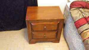 Great shape night stand and dresser with mirror