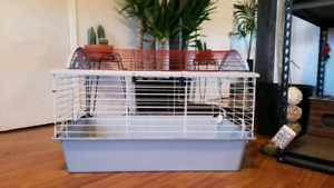 Small animal cage.  30.7 L x 18.9 W x 19.7 H in