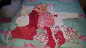 Girls 0-3 month bundle of clothes
