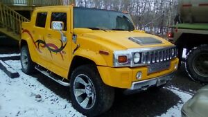 Custom Supercharged Hummer Truck and Trailer