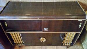 Vintage Stereo Hardwood Cabinet