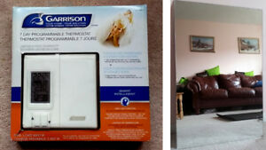 """Mirror 24x 36"""" and New Garrison 7 Days Programmable Thermostat"""