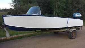 1950s Aroliner Boat + 92' Tent Trailer Strathcona County Edmonton Area image 1