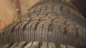 4 245/75/16 studded tires and rims