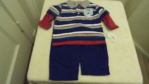 new boys outfit and sleepers size 3/6 months