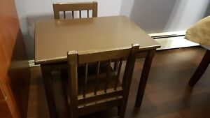 3 piece table and 2 chairs