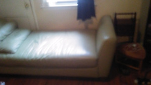 Delivered Italian leather chaise