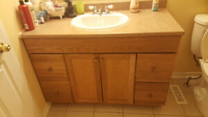 Bath Vanity and Sink with taps