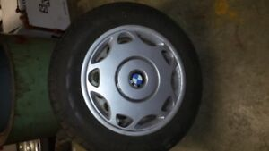 NEW 205/60 R15 Winter Tires on BMW Rims with BMW hubcaps