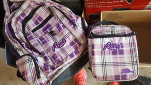Roots Knapsack and lunch bag