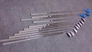 11 bâtons de golf + sac