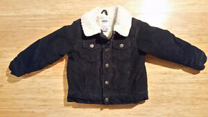 Old Navy sherpa lined courderoy jacket sz 3T