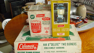 Vintage Coleman camping equipment,  $160.00 for all 3 items
