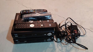 Bell Fibe PVR and Cable box with 4 remotes