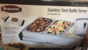 PROFESSIONAL STAINLESS STEEL BUFFET SERVER & WARMING TRAY