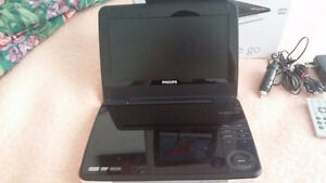 Philips Portable DVD Player, White(good condition)