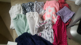 Bundle of fleece pyjama pants and tops 12-14