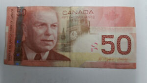 Old Canadian $50 (2004) Currency Paper Bill