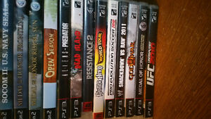 Whole Stack of PS3 Games and 4 PS2 Games for $15