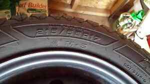 Goodyear Nordic 215/55 R17 with rims / avec jantes West Island Greater Montréal image 2