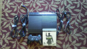 Ps3, with 1 controller and 1 game