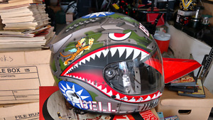 Bell Vortex Flying Tiger Motorcycle Helmet - new, size M