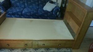 Kids captains bed with two drawers