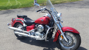 2010 Yamaha V Star Classic 650 Candy Apple Red