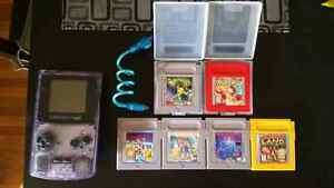 Game boy Color with 6 games and worm light