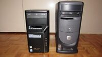 TWO COMPUTERS ACER DUAL CORE CPU 2.00GHZ AND PENTIUM 4 CPU 3GHZ