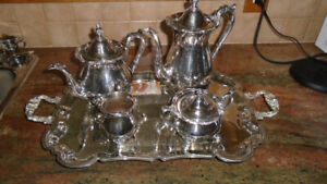 Household Silver Plate Coffee & Tea Set - $100
