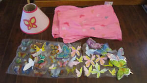 BUTTERFLY  BEDROOM THEME ACCENTS