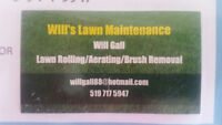 Lawn Rolling, Aerating and Brush Removal