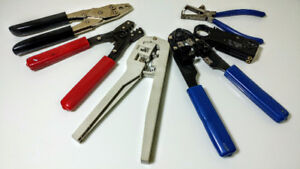 Assorted crimping and stripping tools