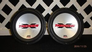 Pair of MTX Thunder subwoofers (4 ohm) 250 Watts each