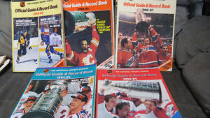 5 NHL Official Guide&Record Books