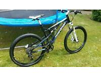Boardman team full suspension mountain bike 27.5 wheel size large frame
