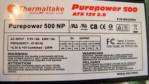 Thermaltake Purepower 500 Power Supply