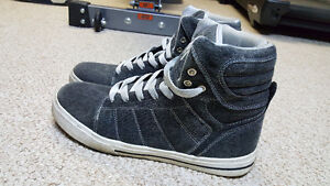 Grey High Tops Shoes Size 10 - Worn Only Twice - LIKE NEW