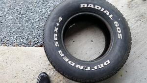 2 Michelin defender tires 275/60/15
