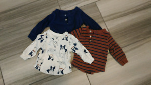 Carters newborn boy shirts