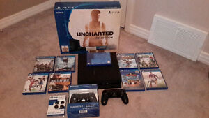 Ps4, 2 controllers, 10 games, 9months subscription