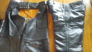 pantalon en cuir et shaps