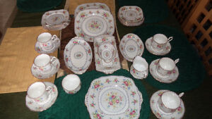 Royal Albert English Bone China Petite Point 35 ITEMS Tea Cups P