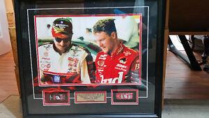 Earnhardt collage **** Sr. & Jr. Checkin' The Program ***