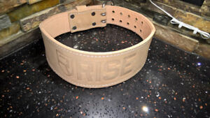 RISE fitness apparel 'Old School' leather lifting belt (M)