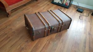 Vintage luggage trunk