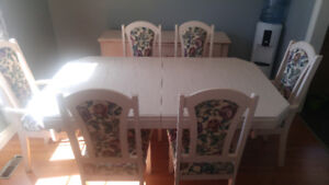 Dining Set with Six Chairs.