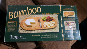 BAMBOO CHEESE SERVER FOR SALE! BNIB!