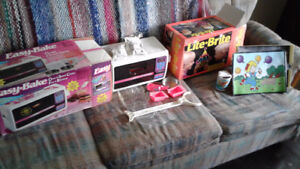Collectible toys easy bake oven and a lite brite